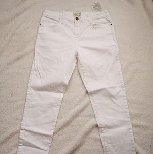 Current/Elliott The Fling White Skinny Jeans 29